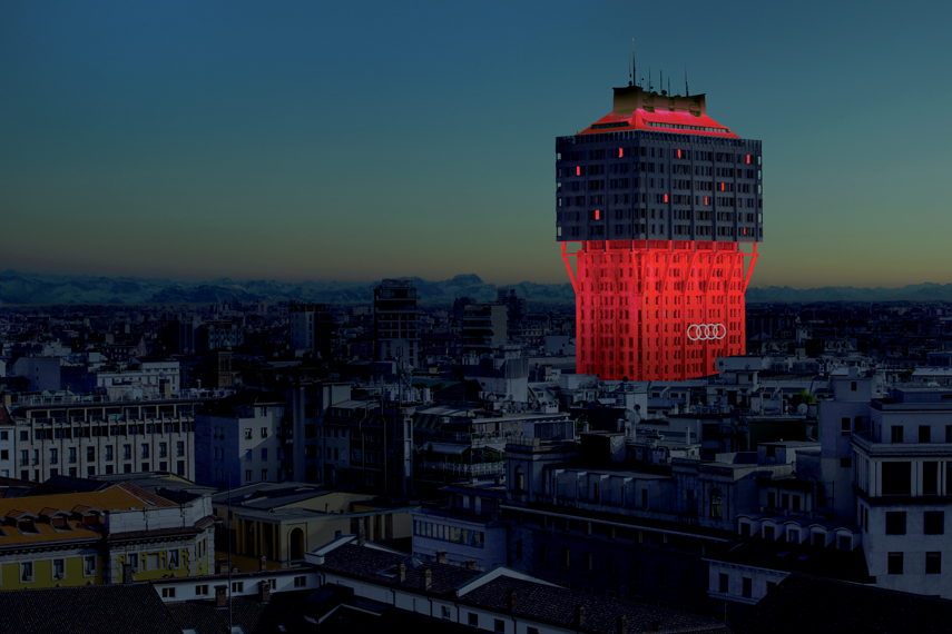 Open Borders, Ingo Maurer e Axel Schmid rivestono di luce la Torre Velasca