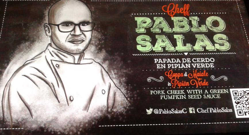 Padiglione Messico- lo chef Pablo Salas