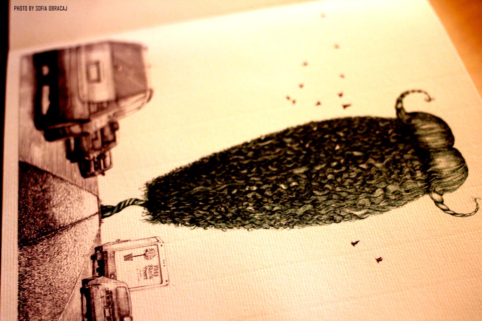 Particolare di una delle illustrazioni L'albero dei Baffi