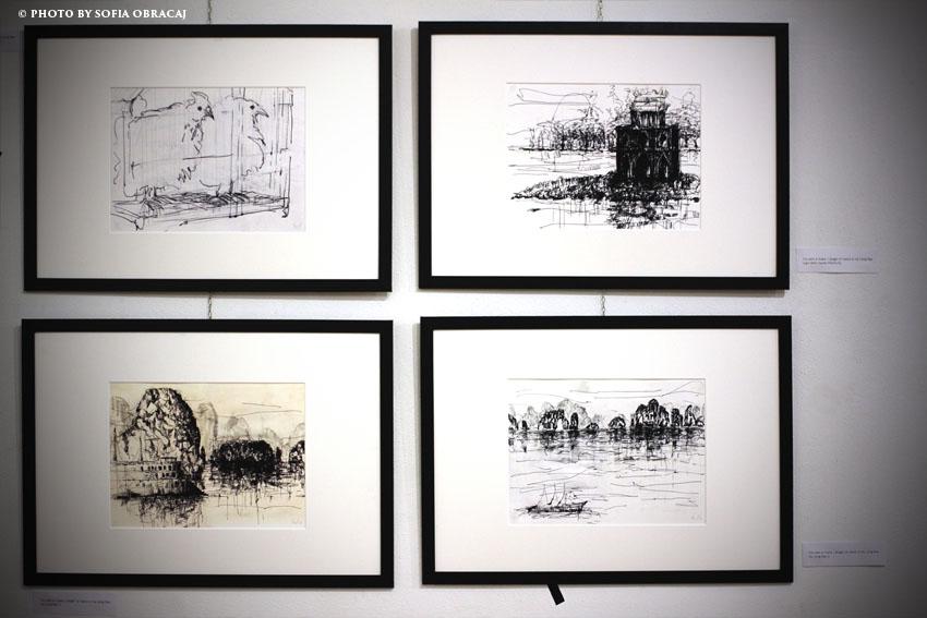 Quattro stampe giclé da Moleskine ei viaggi d'artista, ph. Sofia Obracaj