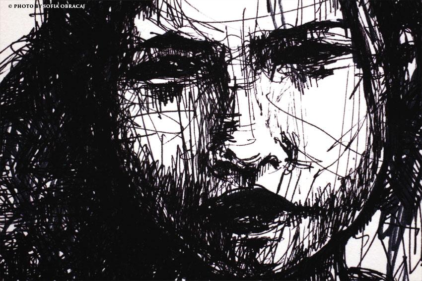 Un volto secondo la visione e il tratto di Eleonora Prado, ph Sofia Obracaj