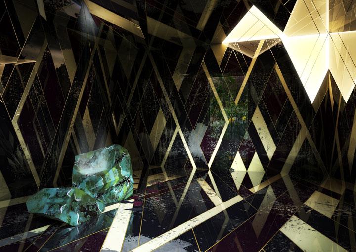 ouses of Wonders Dimorestudio_BOTANICAL RAIN_installazione per Bertelli