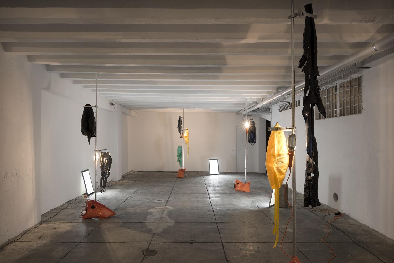 Alcune installazioni della mostra Stressed Environment di Davide Samorani, Marsèlleria, 2016, ph. Carola Merello