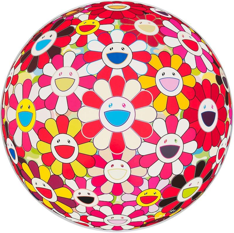 Flowerball 3D Goldfish Colors, tecnica mista, 71x71cm, 300 esemplari, firmato e numerato, 2010