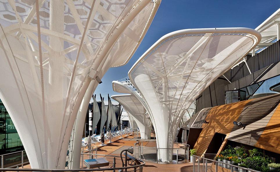 Il pianoro-terrazza del Padigione Germania ad Expo2015