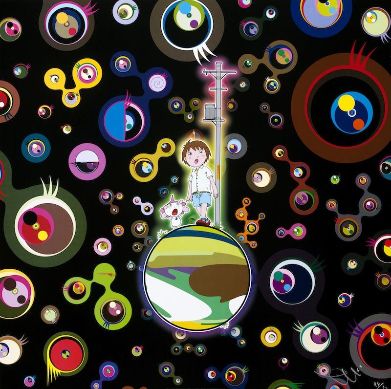 Jellyfish Eyes, litografia offset a colori, firmato e numerato, 300 esemplari, 50x50cm, 2013