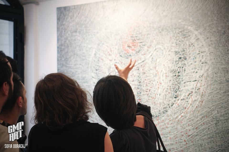 Riflessioni davanti a una tela di Memola, 7 giugno galleria Rubin