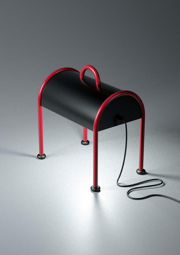 Stilnovo- Bauletto rosso nero, design Ettore Sottsas, 1977
