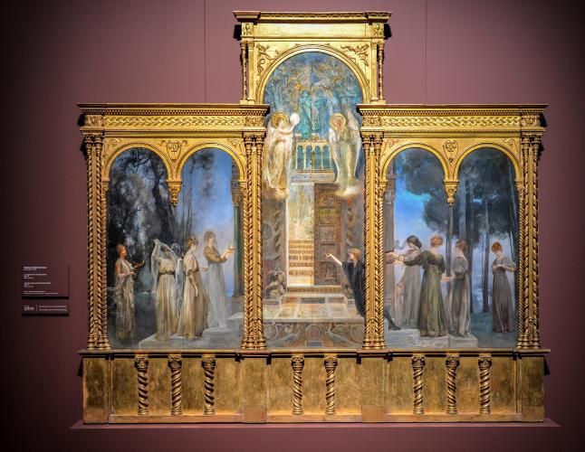Giulio Aristide Sartorio Le Vergini savie e le Vergini stolte, 1890-91, a Palazzo Reale