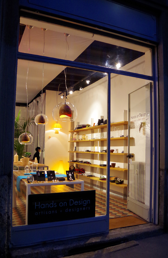 Hands on Design, interno dello spazio in via Rossini
