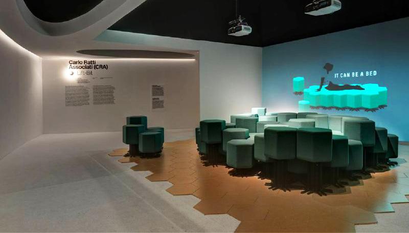 La stanza di Carlo Ratti con le sue sedute modulari e modulabili