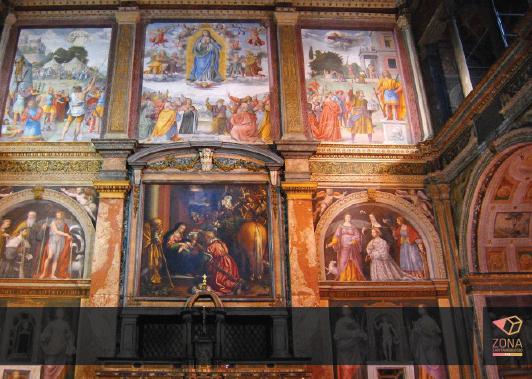 Particolare degli affreschi di S. Maurizio