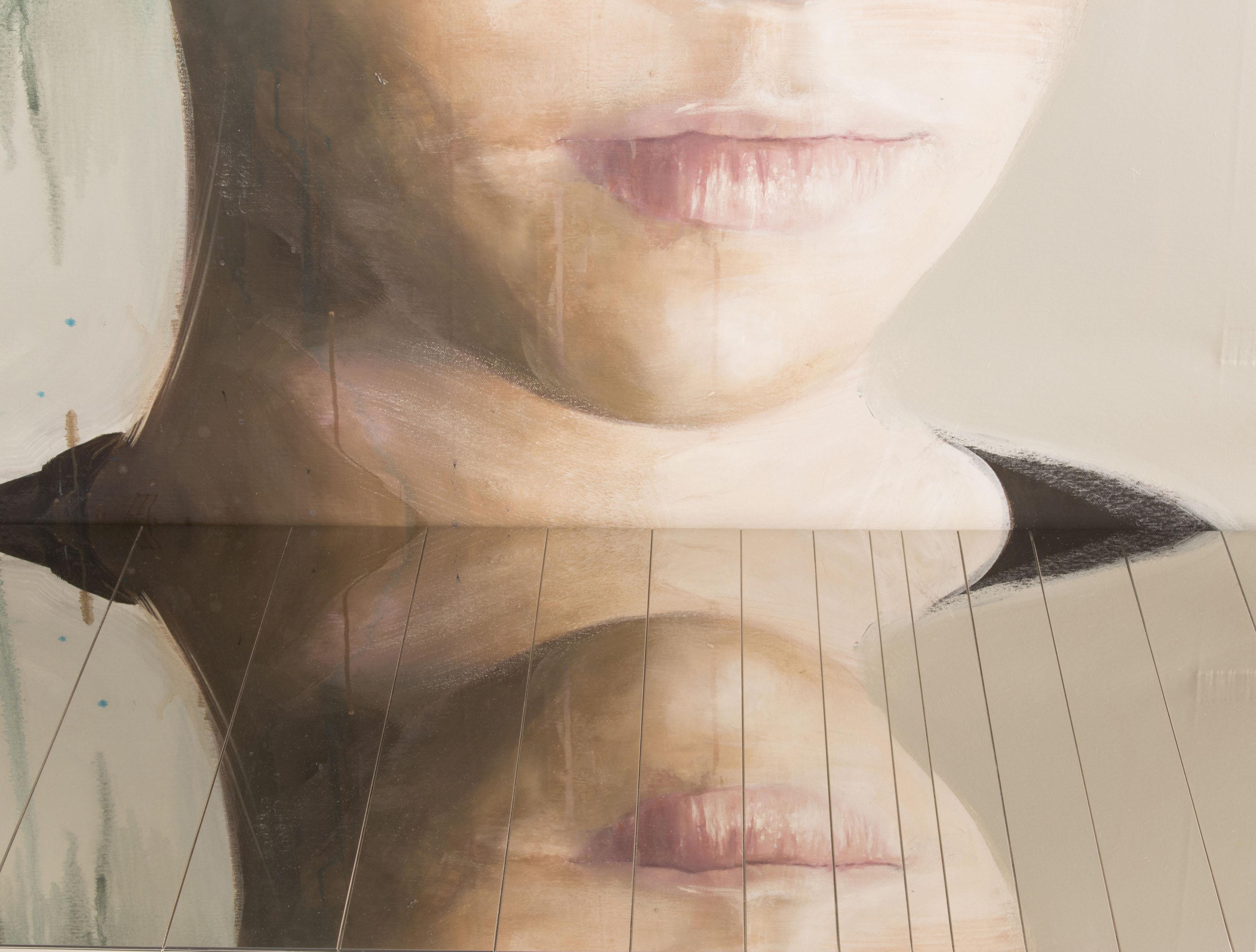 Particolare di un dipinto di Roberta Coni per Ritratti, Riflessi