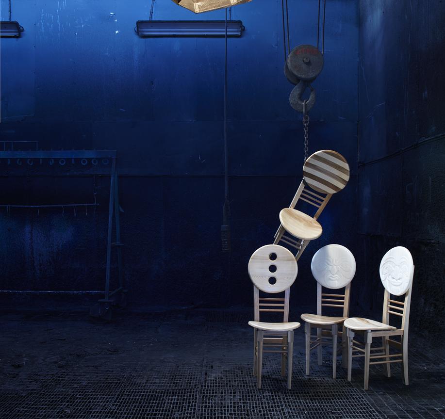 Sedie Sedule, collezione Fz, design Francesco Rsi per Città Castello