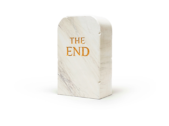 THE END 1516, 2015, pouf, design ToiletPaper, poliuretano espanso rivestito in Guflac.
