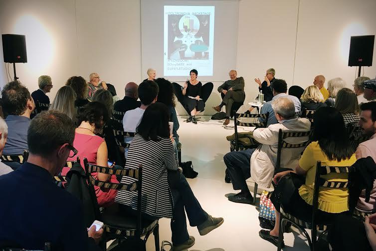 Un momento durante la presentazione di Poltronova Backstage presso la galleria Sozzani, ph. Sofia Obracaj