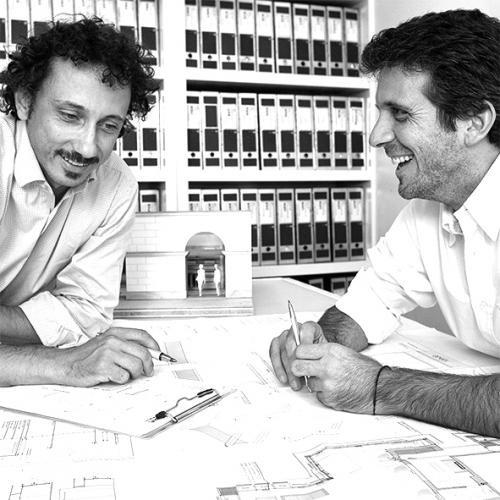 Un ritratto di Luca Aureggi e Maurizio Condoluci- Westway Architects