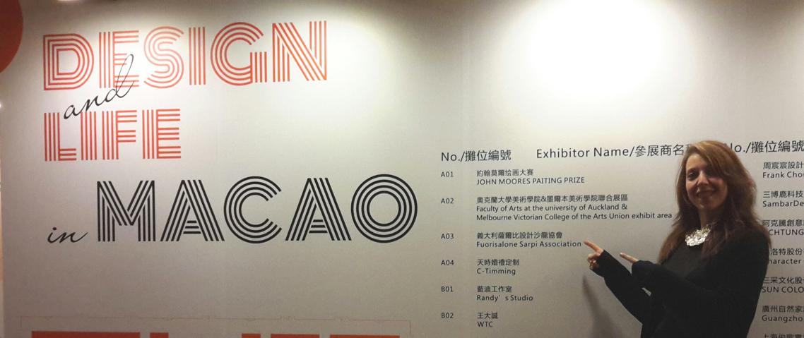 Una delle due designer a Macao in Cina