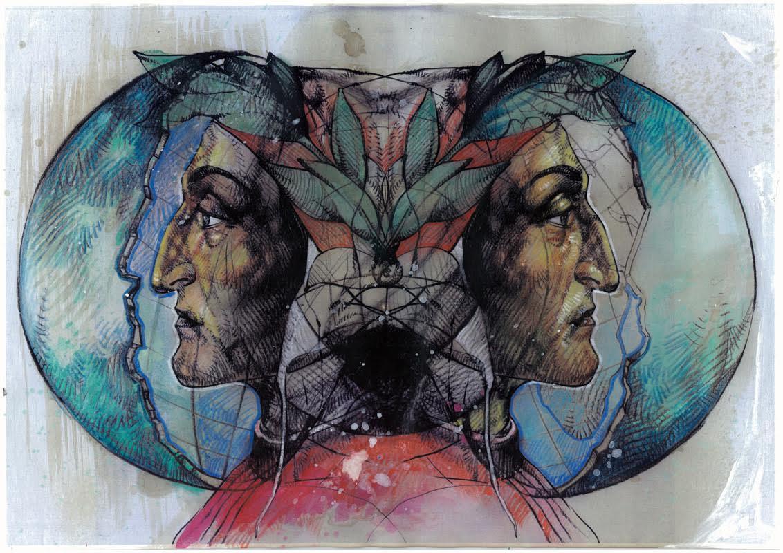 Dante e la Terra Cava, opera di Giovanni Manzoni Piazzalunga