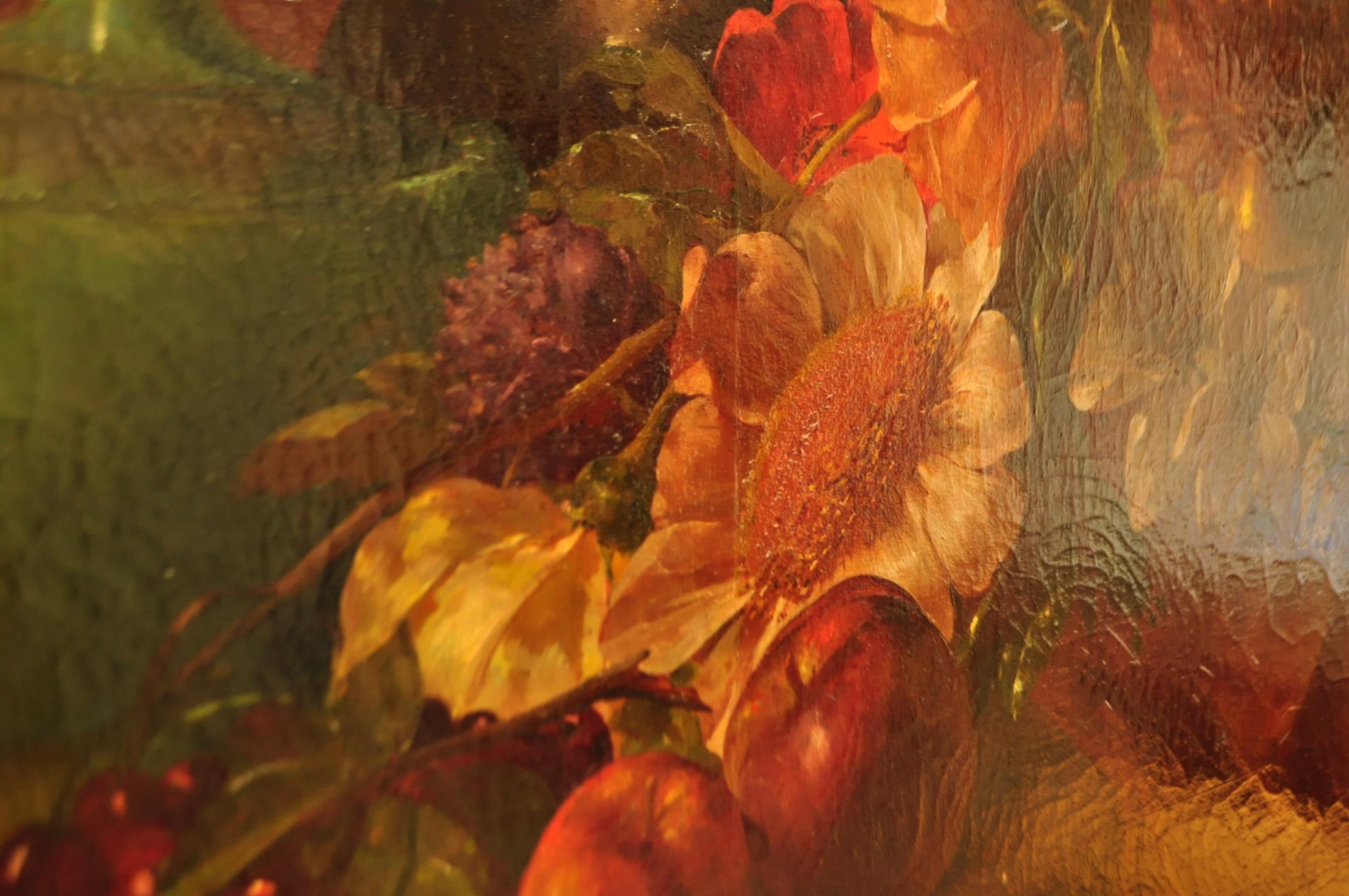 Craquelure in evidenza su un dipinto in fase di restauro da Matilde Dolcetti
