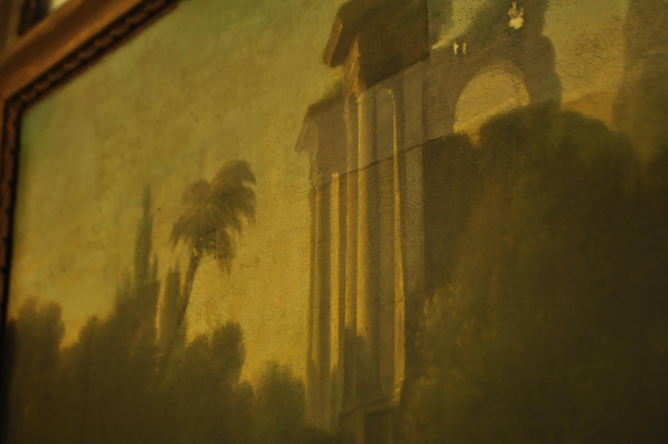 Particolare di un dipinto bisognoso di restauro