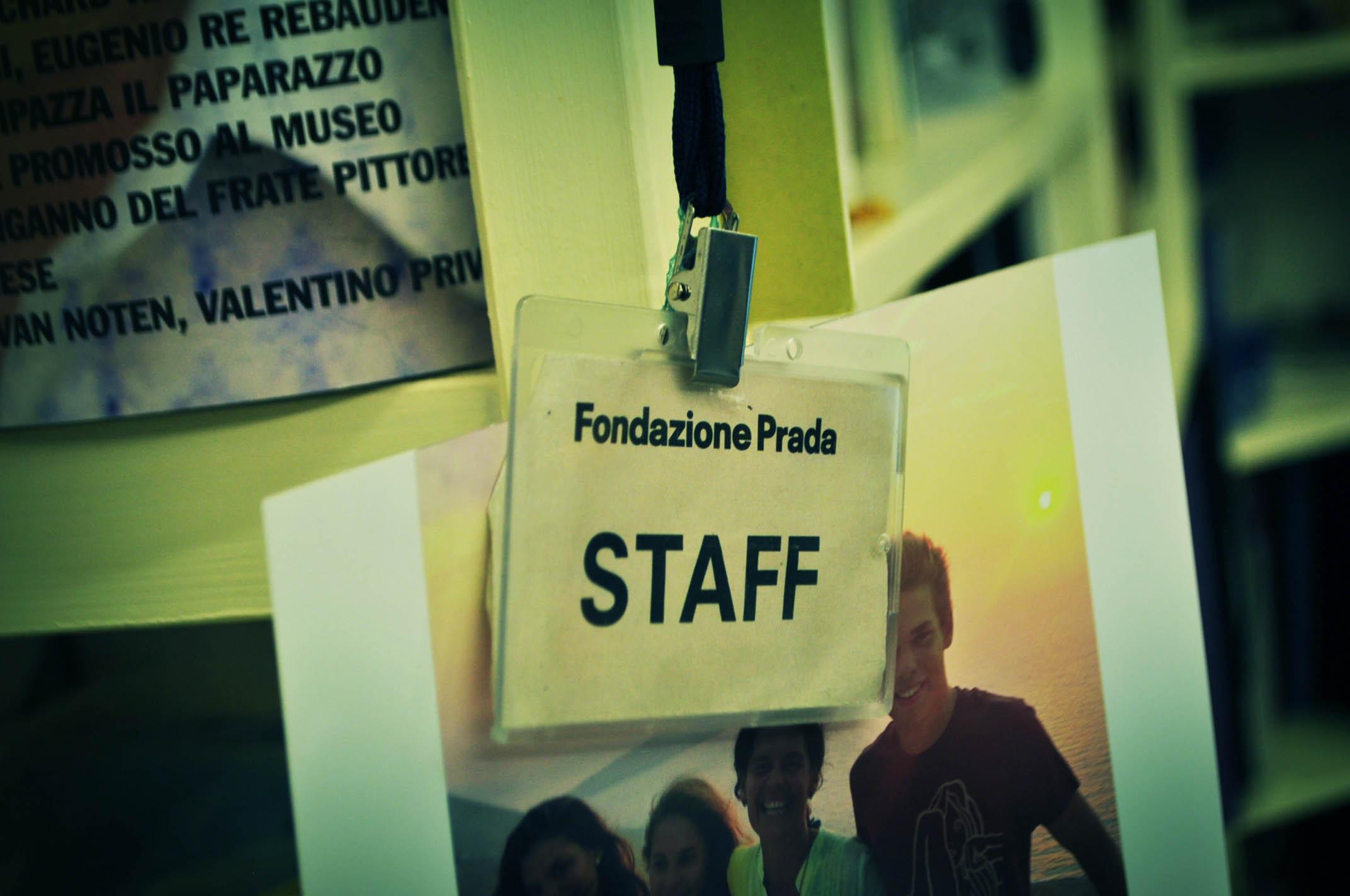 Un ricordo delle commissioni per la Fondazione Prada