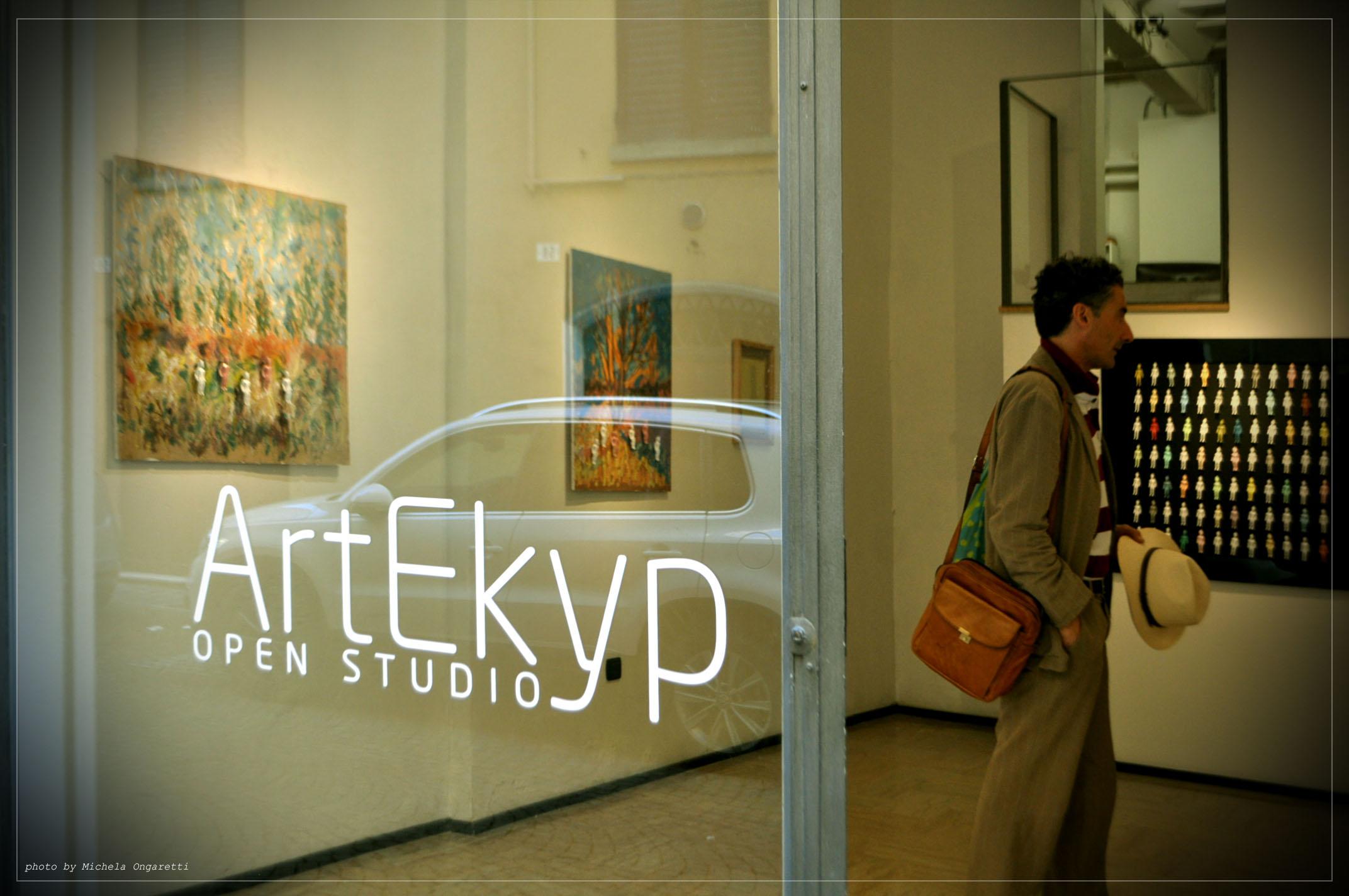 L'ingresso della mostra presso Artekyp