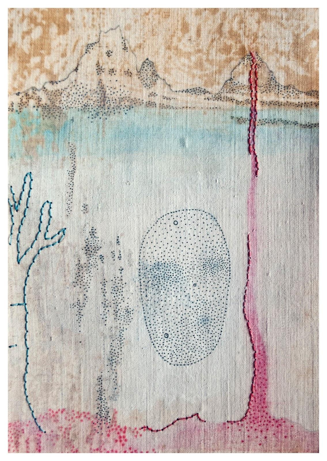 Sofia Rondelli, Topografia di un sentimento II, tecnica mista su carta, 2016