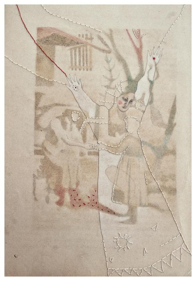 Sofia Rondelli, Pietas, tecnica mista su carta