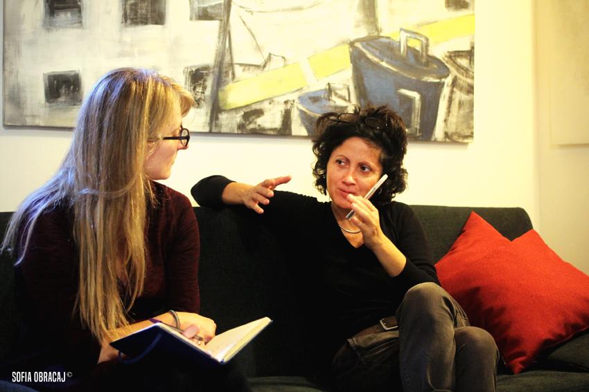 L'incontro con Katia Dilella nel suo studio, ph. Sofia Obracaj