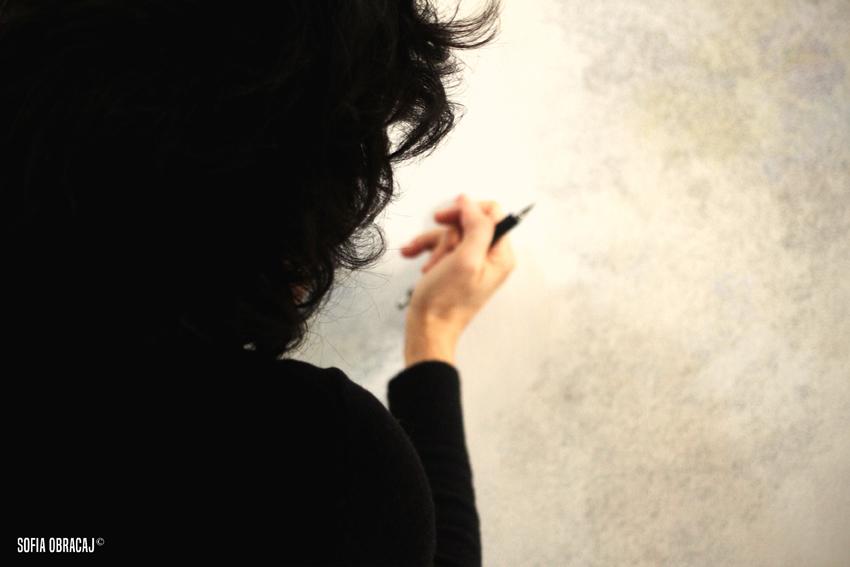 L'artista e una sua opera, ph. Sofia Obracaj