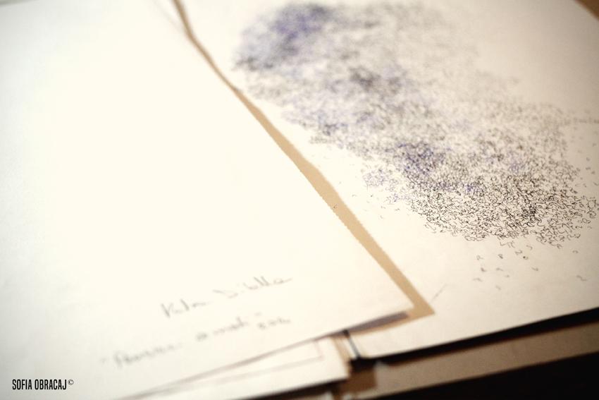 Lavori su carta di Katia Dilella, ph. Sofia Obracaj
