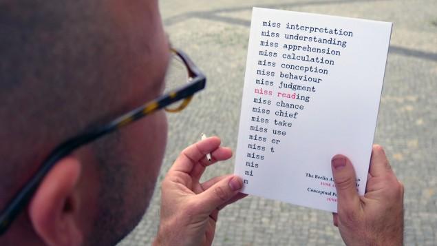 Michalis Ichler durante Miss Read a Berlino