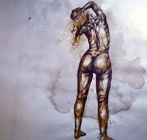 Il corpo e il suo rituale di svelamento per Giovanni Manzoni, in un recente disegno