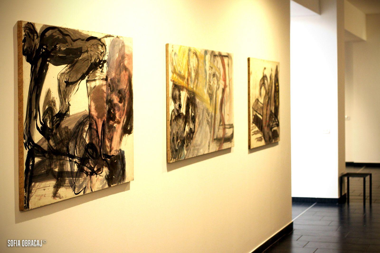 """Vista della mostra """"Martin Disler- Opere su Carta, ph. Sofia Obracaj"""
