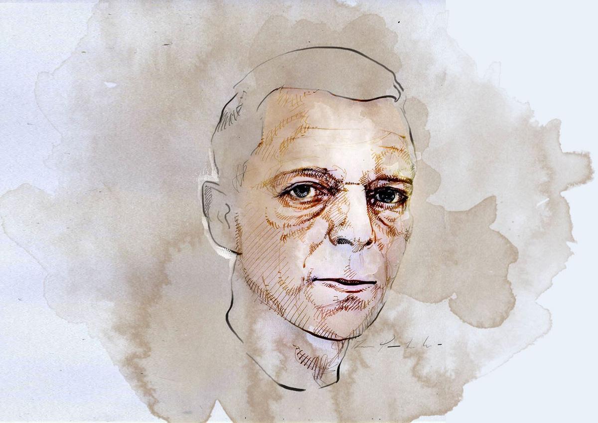 Martin Disler visto dall'artista Giovanni Manzoni Piazzalunga