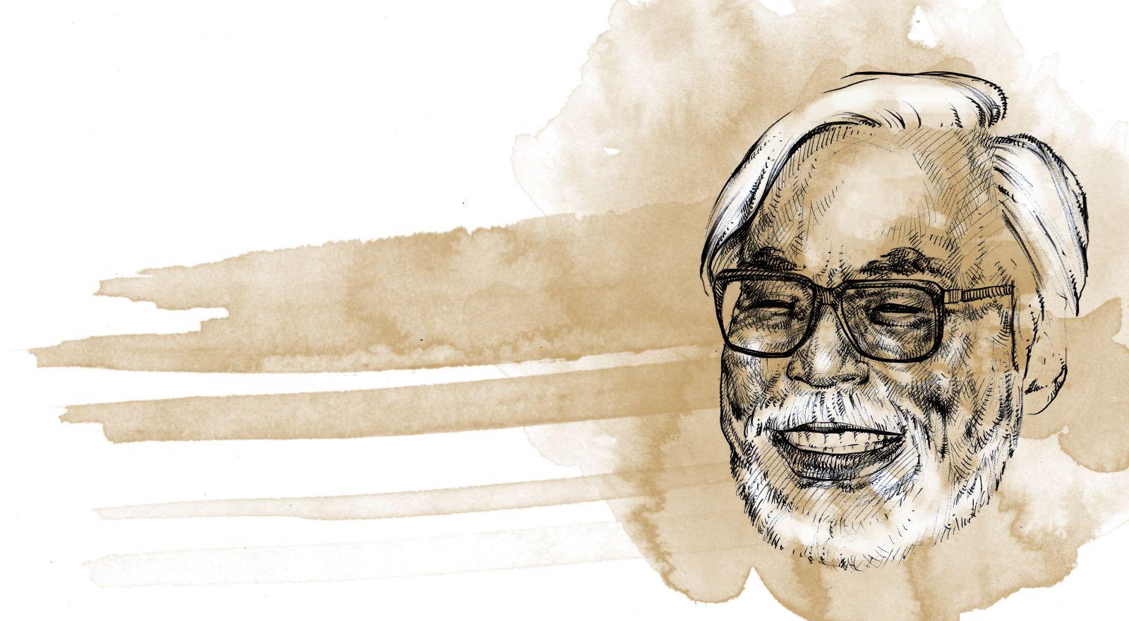 Hayao Miyazaki, ritratto di Giovanni Manzoni Piazzalunga, nel giorno del suo compleanno.