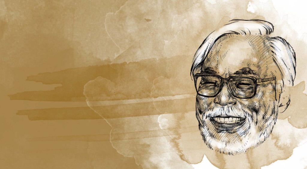 Miyazaki ritratto da Manzoni Piazzalunga nel giorno del suo settantaseiesimo compleanno