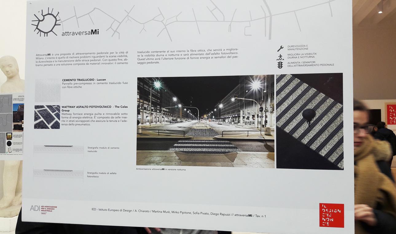 Strisce pedonali fotovoltaiche, Mostra Il design che non c'è in Triennale a Milano