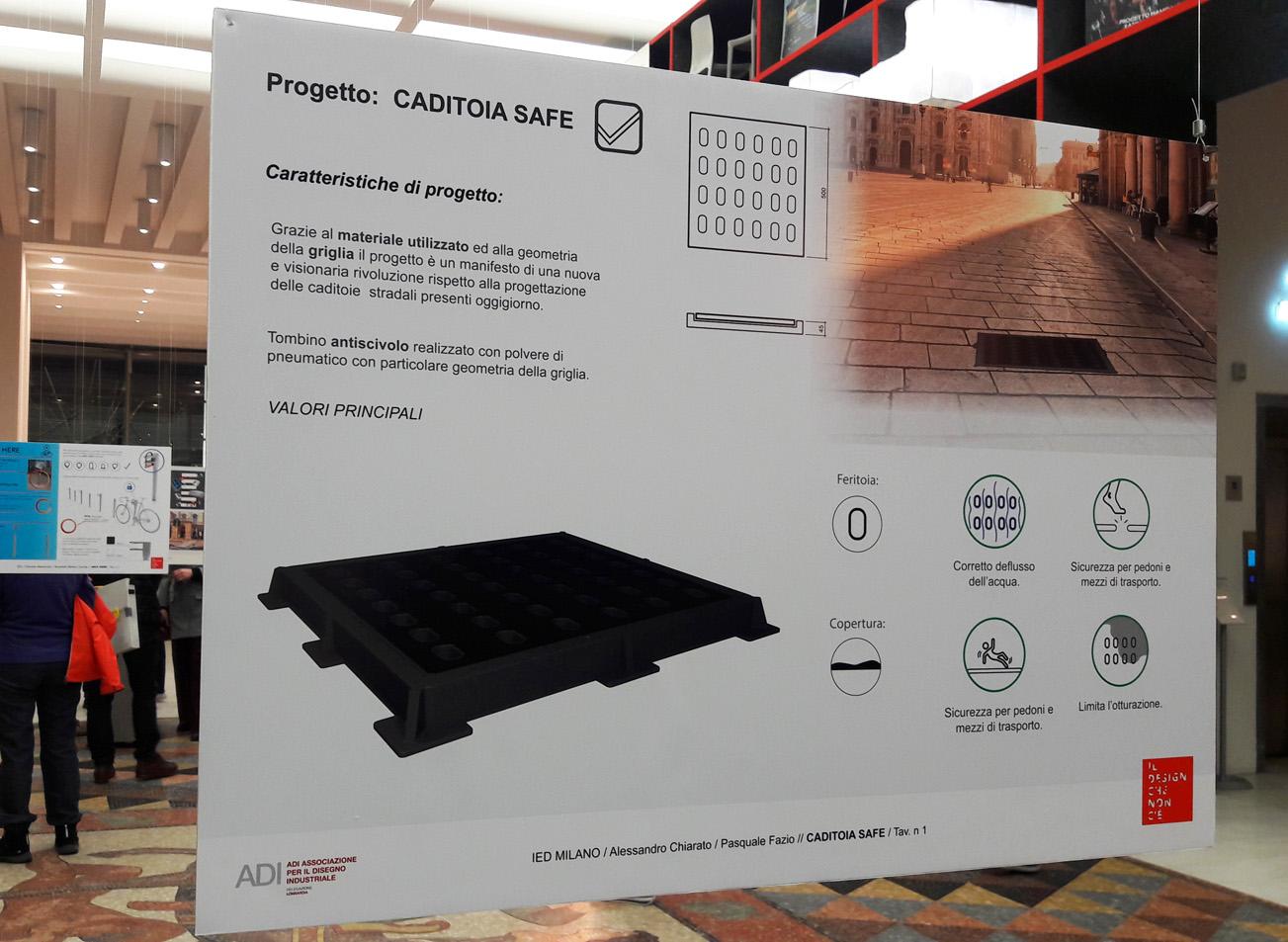 Tombini antiscivolo progettati dagli studenti IED. In Triennale a Milano