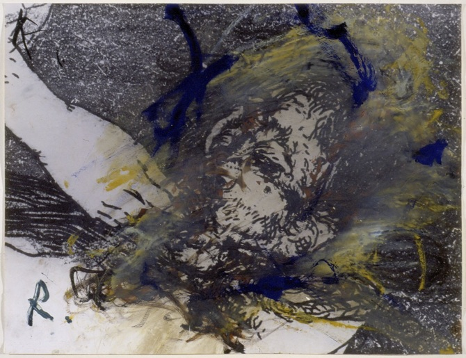 Arte contemporanea di Cannaviello a Milano,un dipinto Arnulf Rainer
