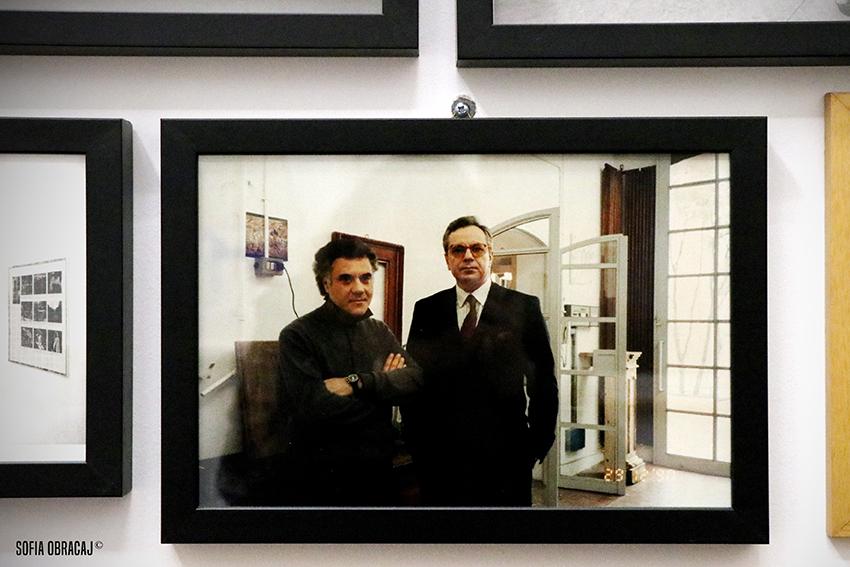 Enzo cannaviello e Mimmo Paladino nello studio dell'artista