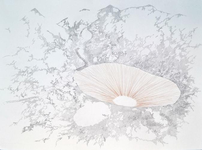 Particolare di un lavoro di Tamara Ferioli in mostra presso Officine dell'Immagine