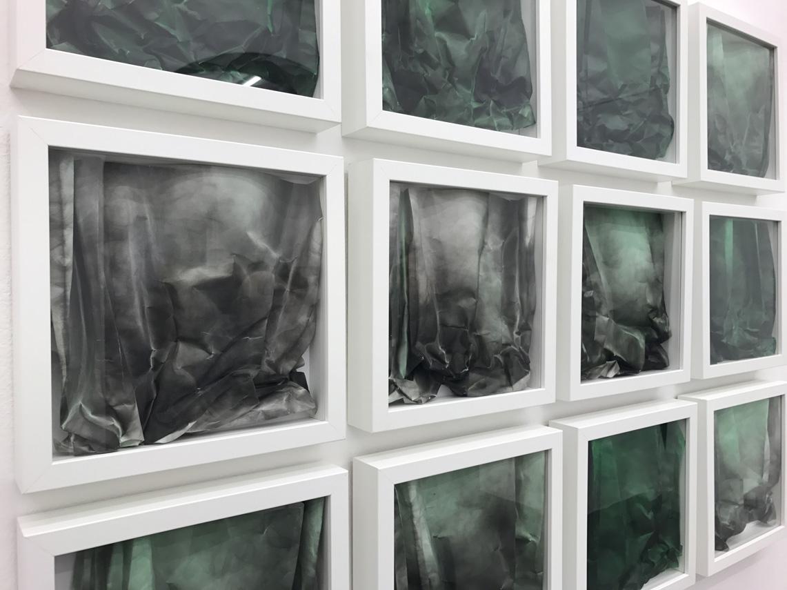 Dodici opere su carta di Alessandro Cannistrà con nerofumo e acquerello in mostra presso Officine dell'Immagine, particolare