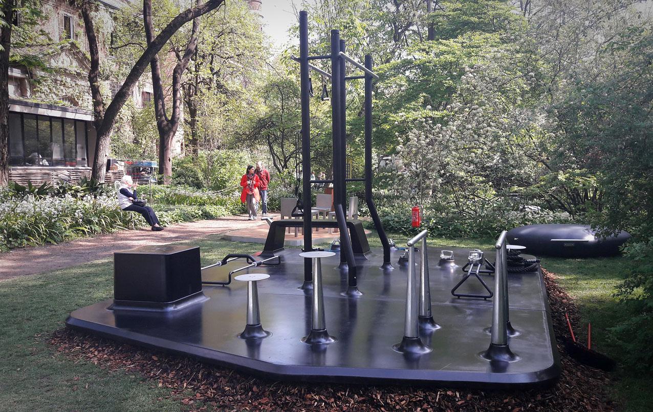 Design Islands con Material Immaterial di Interni, all'Orto Botanico di Brera con metalco Active, MyIsle