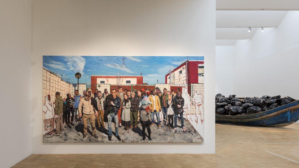 Un dipinto di Liu Xiadong in Triennale