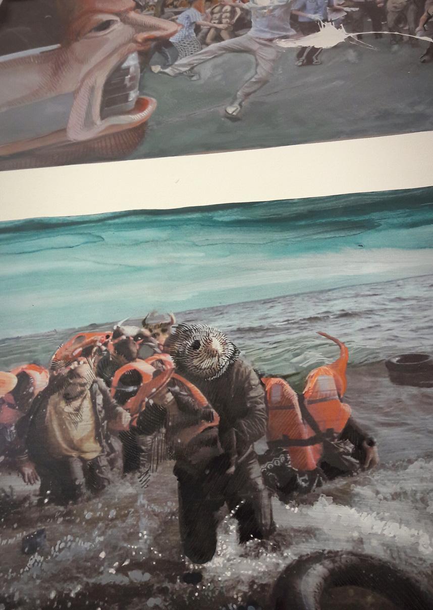 Illustrazione di La Terra Inquieta. Linguaggio dell'arte e della crisi. Illustrazione di Rokni Haerizadeh