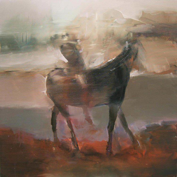 Landness. Un dipinto di maurizio L'altrella in mostra presso la galleria Rubin