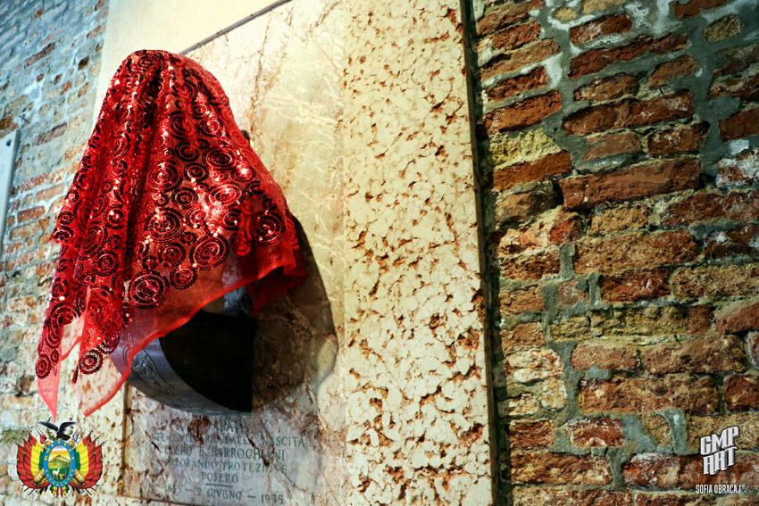 Integrazione nello spazo delle opere scultoree con Josè Ballivian alla Biennale d'Arte