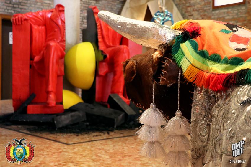 La Bolivia a Venezia. Biennale Intercontinentale. Opere di Ballivian e Mateo, ph. Sofia Obracaj, courtesy Consolato Generale di Bolivia